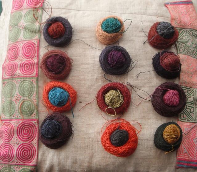 little yarn cakes
