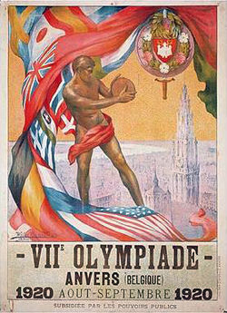 Poster for 1920 Olympics