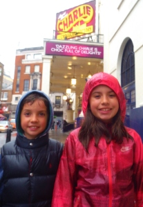 Adela and Daniel outside theatre Charlie