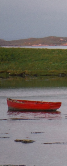 red boat North Uist